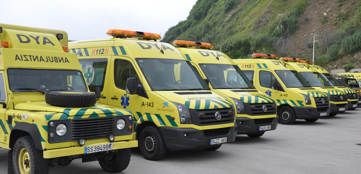 Una flota de ambulancias de urgencia y medicalizadas