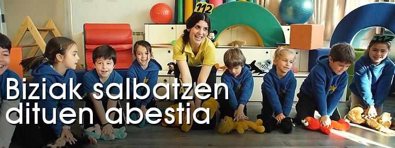 BBS/RCP Lehen Hezkuntzako ikasle guztiei erakusten diegu! Abesten!